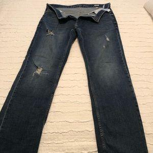 Men's distressed jeans